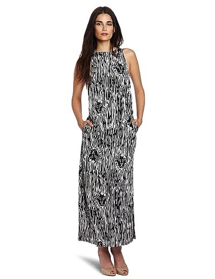 Anne Klein Womens Petite Maxi Dress Blackwhite 2p At Amazon
