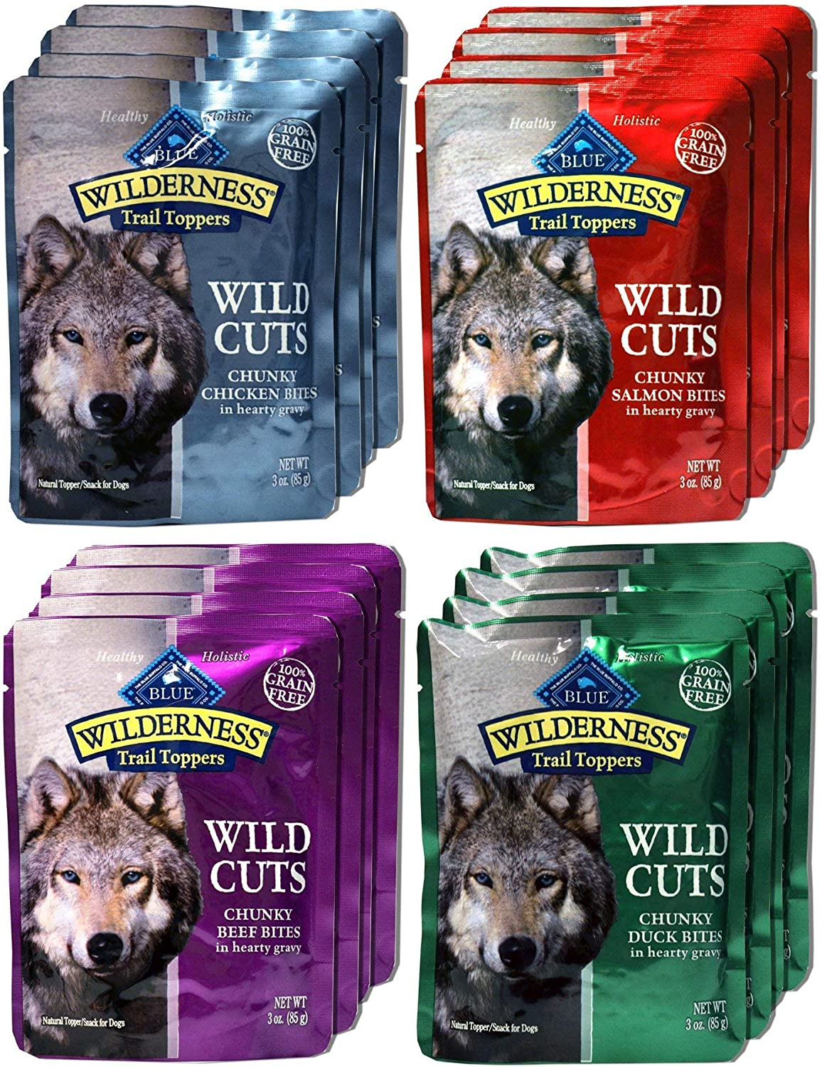 Blue Buffalo Wilderness Trail Toppers Wild Cuts Dog Gravy Snacks Variety Pack