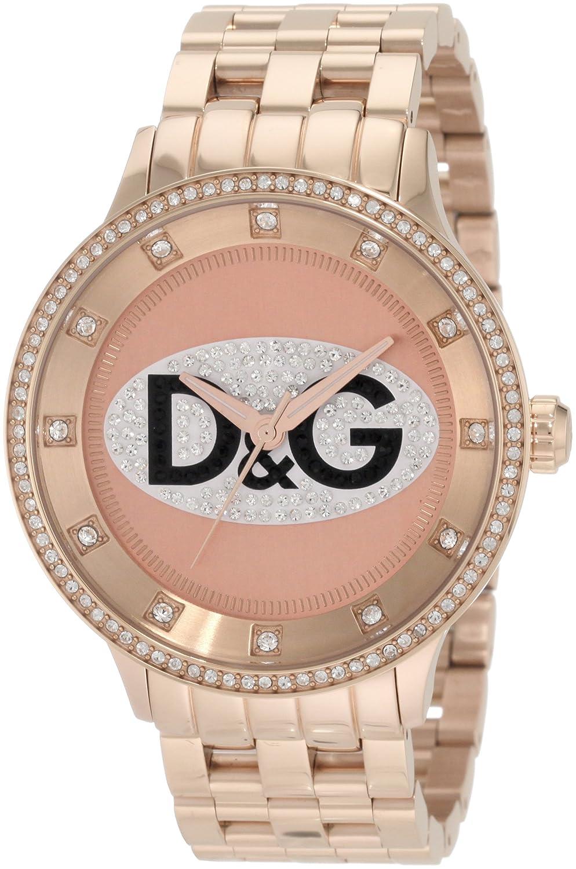 D&G Dolce & Gabbana Women's DW0847 Prime Time Triple Rose Gold D&G Logo  Watch: Amazon.co.uk: Watches