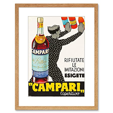 Wee Blue Coo AD Bitter Campari 1934 Home Framed Art Print ...