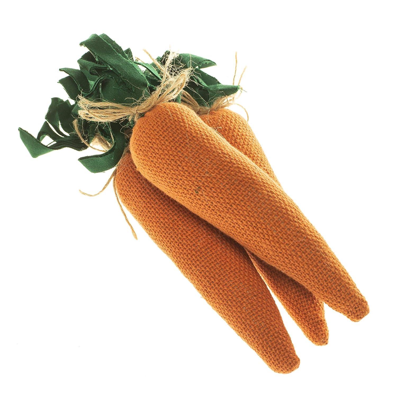 PKD Spring Carrot Vegetable Orange 6 x 2 Fabric Easter Vase Basket Fillers Set of 3