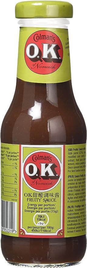 Colman's OK Fruity Sauce 335 g (Pack of 4)