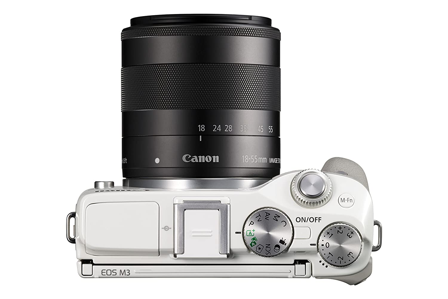 Canon Eos M3 Mirrorless Camera Kit With Ef M 18 55mm M15 45mm Kamera Image Stabilization Is Stm Lens Wi Fi Enabled White Photo