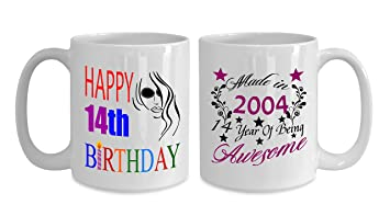 Amazon.com: Made in 2004 14 year of Being Awesome 15 OZ - 14 Year ...