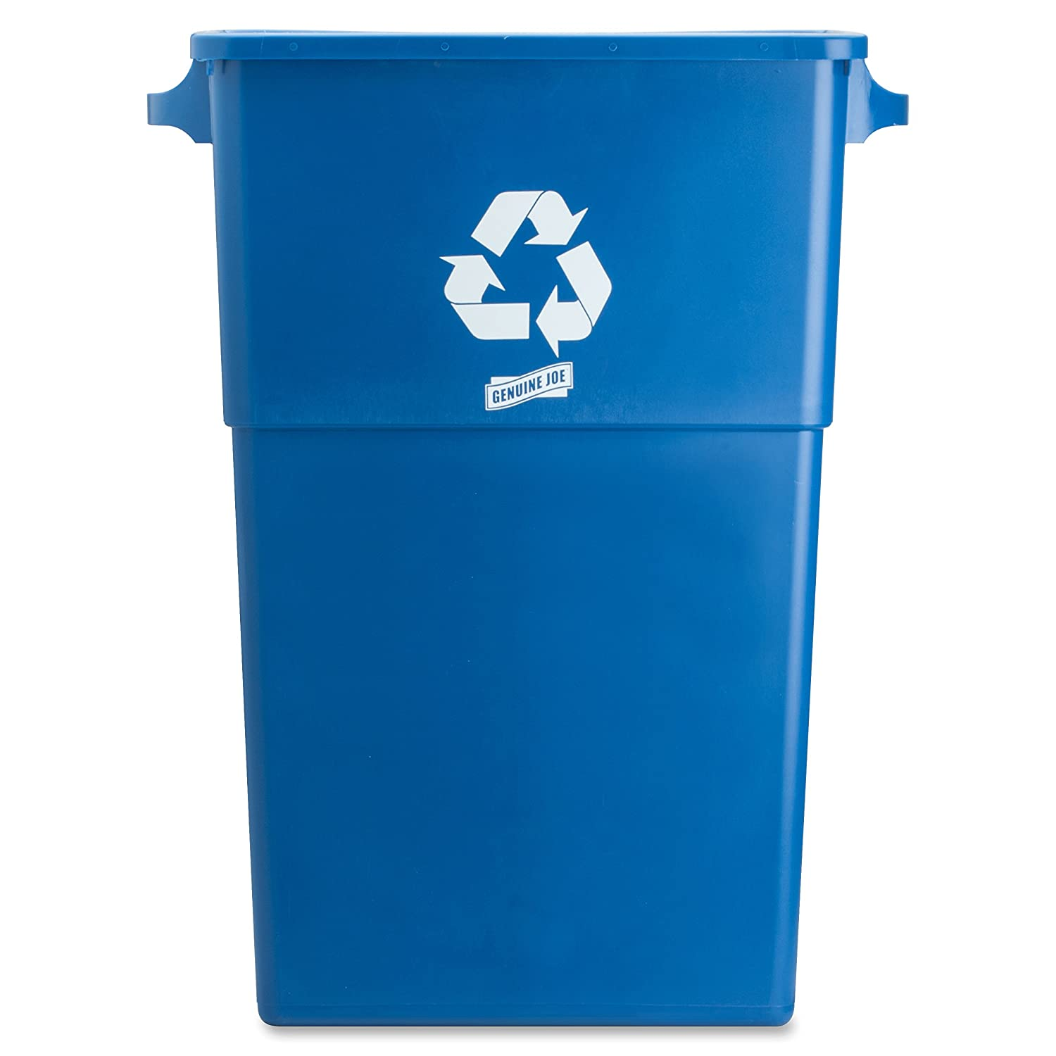 Recycle containers for home use - Amazon Com Genuine Joe Gjo57258 Recycling Rectangular Container 28 Gallon Capacity 22 1 2 Width X 30 Height X 11 Depth Blue Industrial Scientific