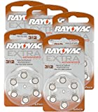 30 Cells Rayovac Extra Advanced Hearing Aid Batteries 312 1,45 V 180 mAh, 5 x Pack of 6