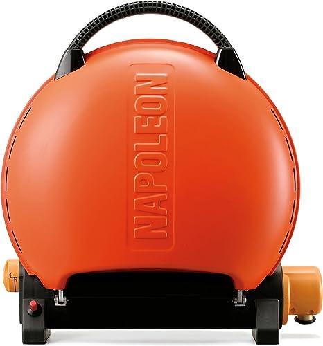 Napoleon TravelQ TQ2225PO Portable Gas Grill, 225 sq.in, Orange