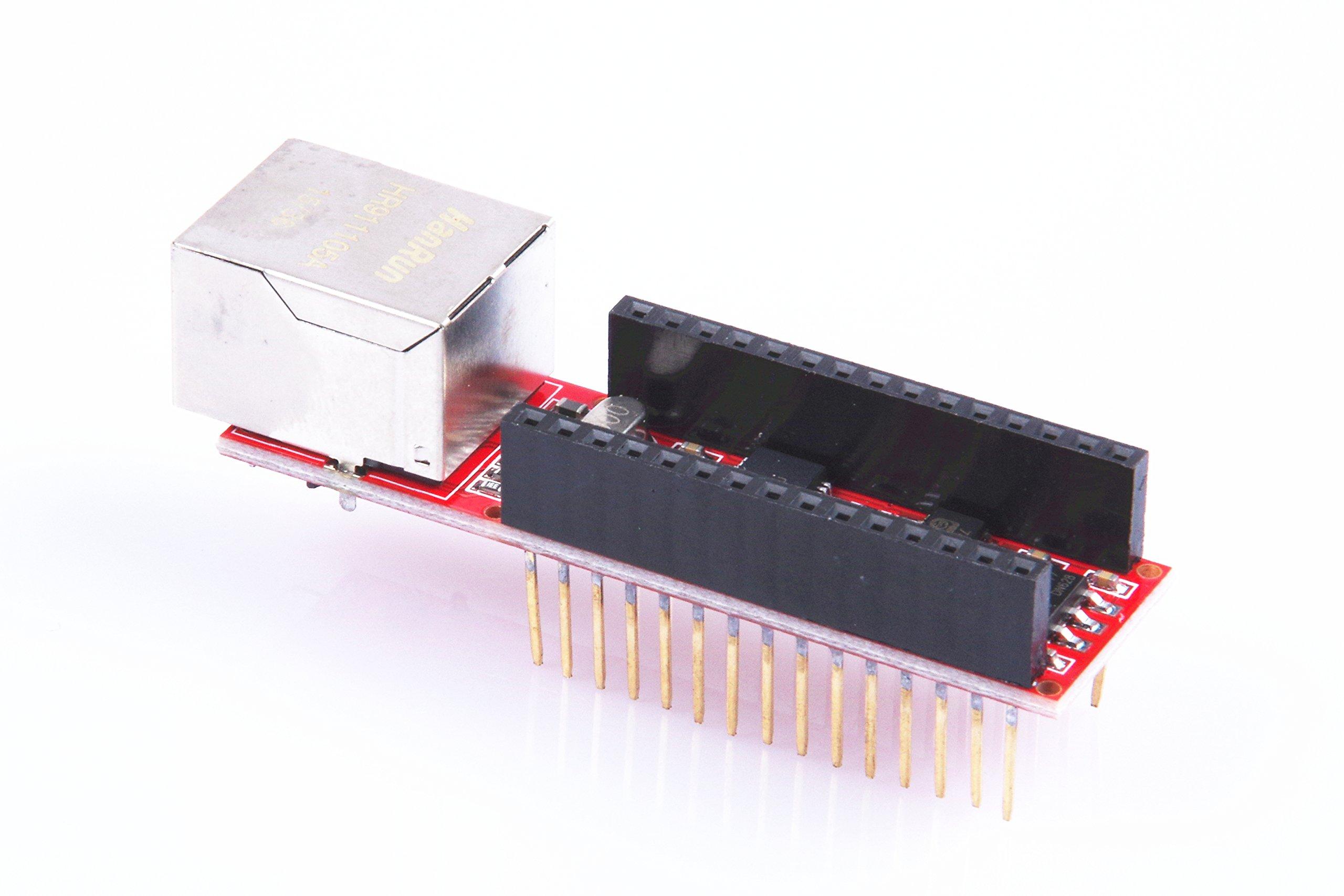 KNACRO Nano ENC28J60 Ethernet Shield for Arduino Nano 3.0 RJ45 Webserver Module TE317