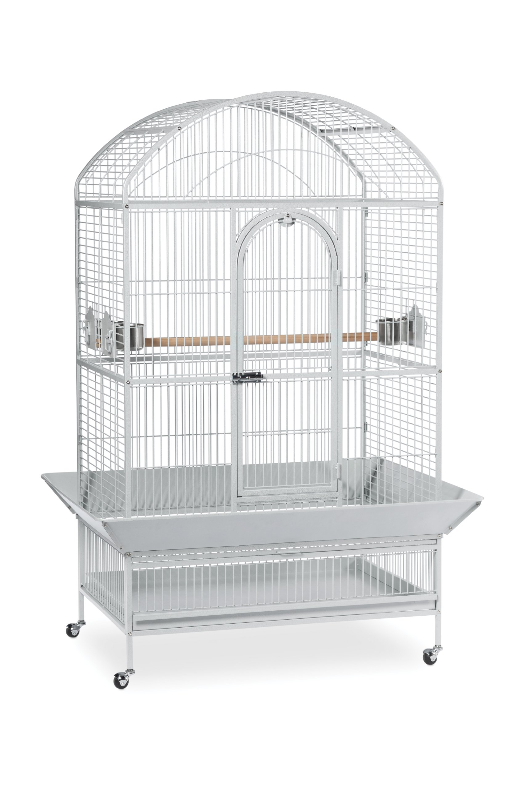 Prevue Pet Products Large Dometop Bird Cage 3163W, Pewter Hammertone