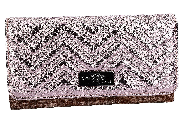 Cartera mujer YY COVERI rosa modelo fuelle abertur de boton ...