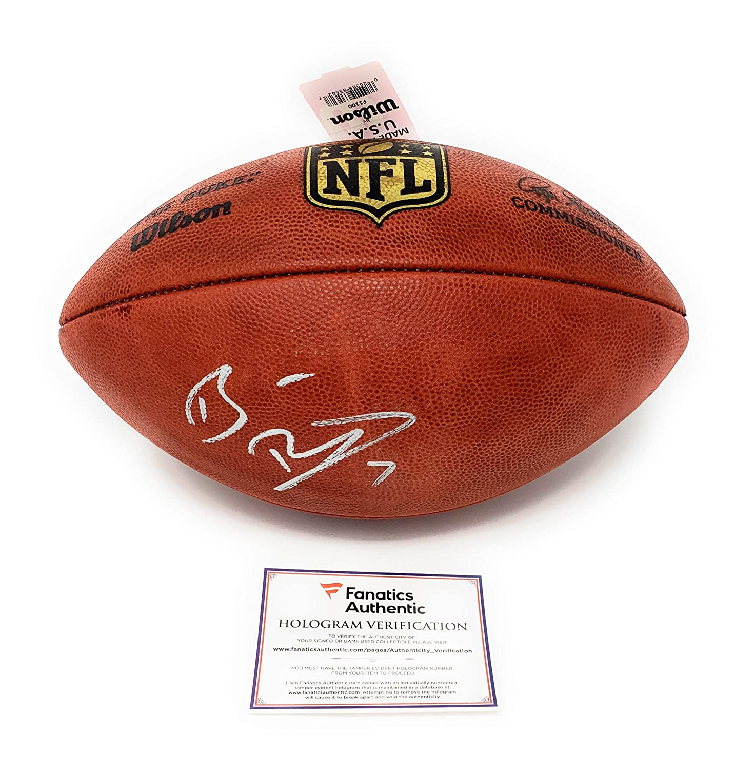 Ben Roethlisberger Pittsburgh Steelers Signed Autograph Authentic NFL Duke Football Fanatics Authentic Certified