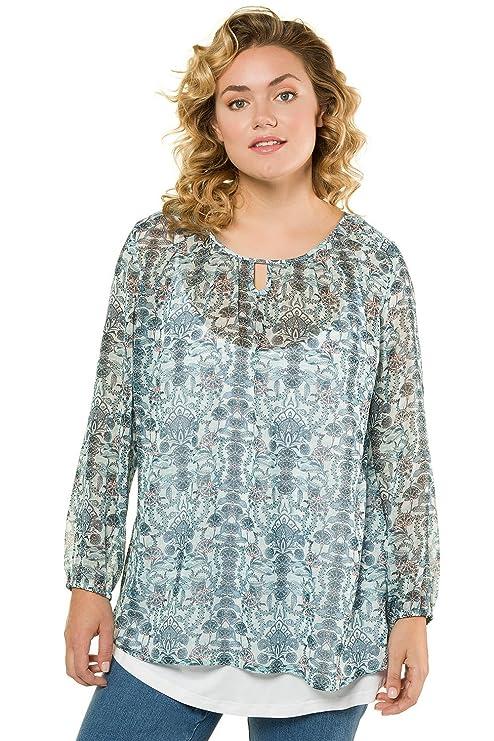 Tailles Imprimée Ulla Popken Grandes Ample Tunique Fleurie Femme EYW2eHIb9D