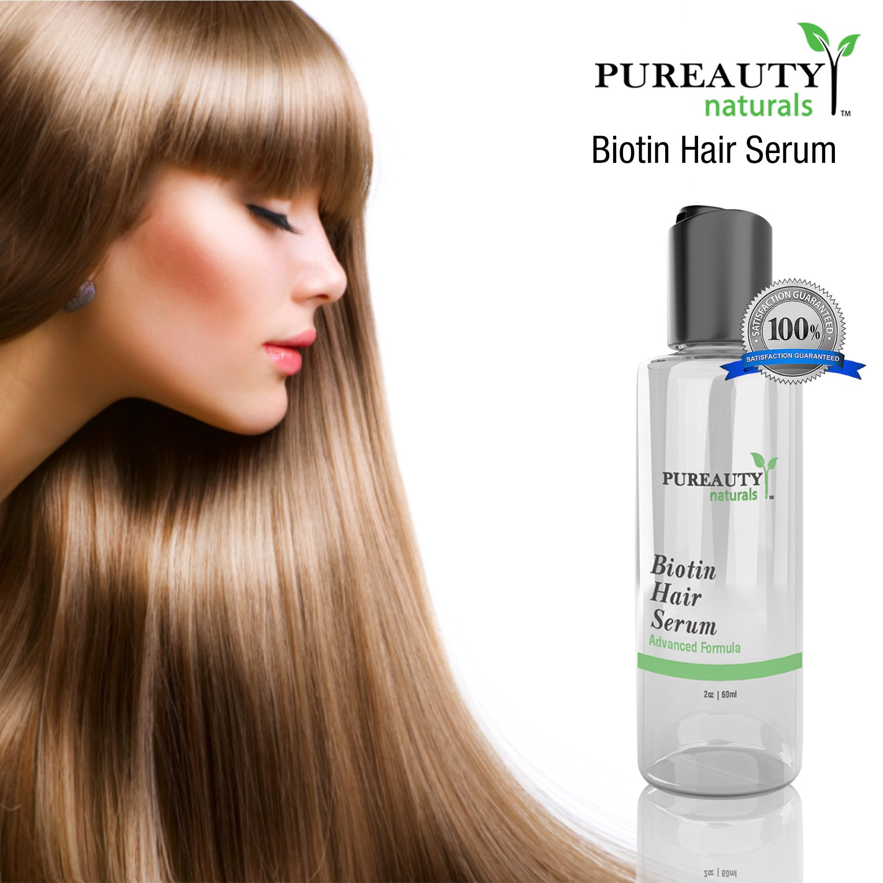 Biotin Hair Growth Serum by Pureauty Naturals – Advanced Topical Formula to Help Grow Healthy, Strong Hair – Suitable For Men & Women Of All Hair Types – Hair Loss Support by Pureauty Naturals (Image #5)