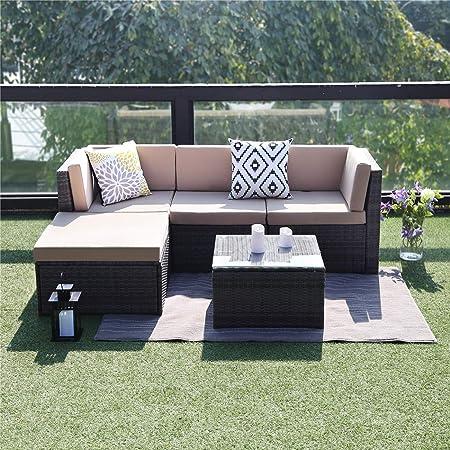 Amazon.com: Wisteria Lane - Mueble de patio seccional para ...