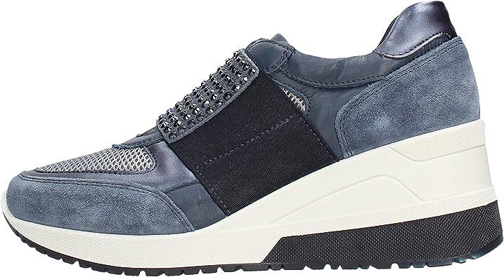 Calzado Mujer Made IN Italy Zapatillas IGI & CO en Jeans de Ante Azul 3162900: Amazon.es: Zapatos y complementos