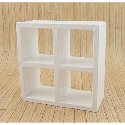 Melody Jane Dollhouse 4 Cube Display Unit White Modern Shelves Bookcase 1:12: Toys & Games