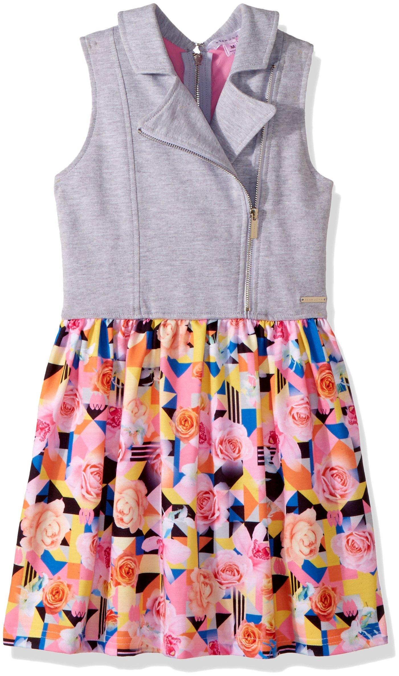 Sean John Big Girls' Tropical Geo Traveler Vested Dress, Multi, L by Sean John