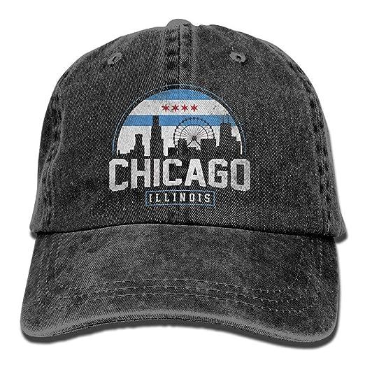 ed2e468656897 WAZH New Baseball Cap Chicago City Flag Skyline USA One Size ...