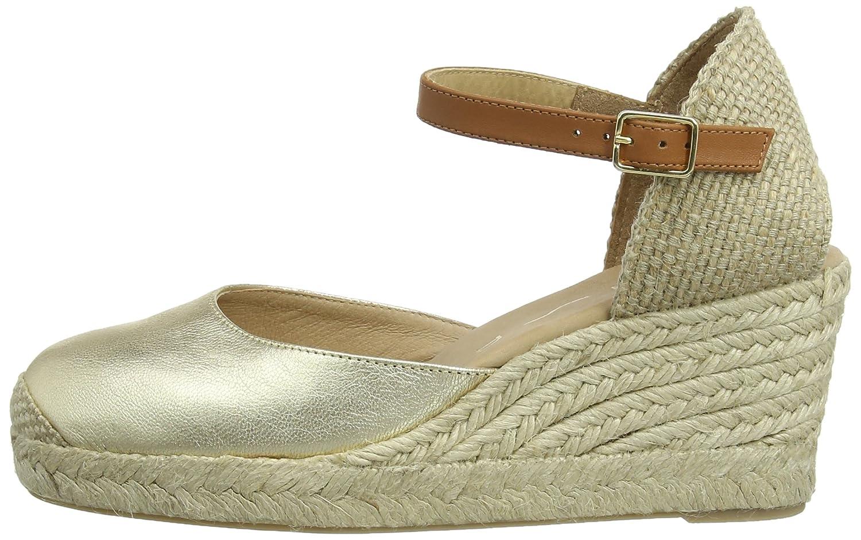 Unisa Caceres_SM, Alpargatas para Mujer, Dorado-Gold (Platino), 36 2/3 EU: Amazon.es: Zapatos y complementos