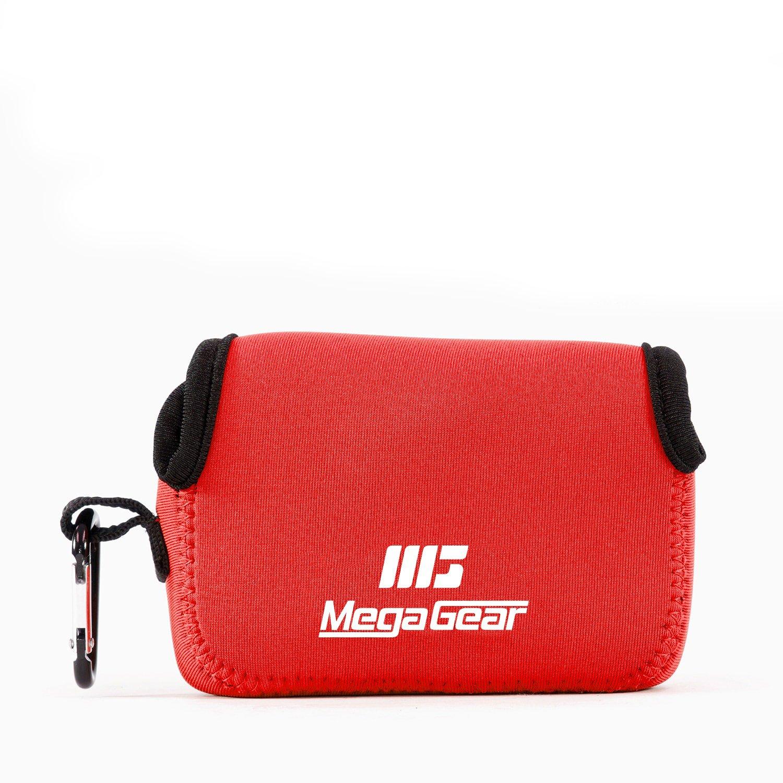 MegaGear MG594 Sony Cyber-shot DSC-RX100 V, DSC-RX100 IV, DSC-RX100 VI, Olympus Tough TG-5, TG-4 Ultra Light Neoprene Camera Case - Hot Pink MG593