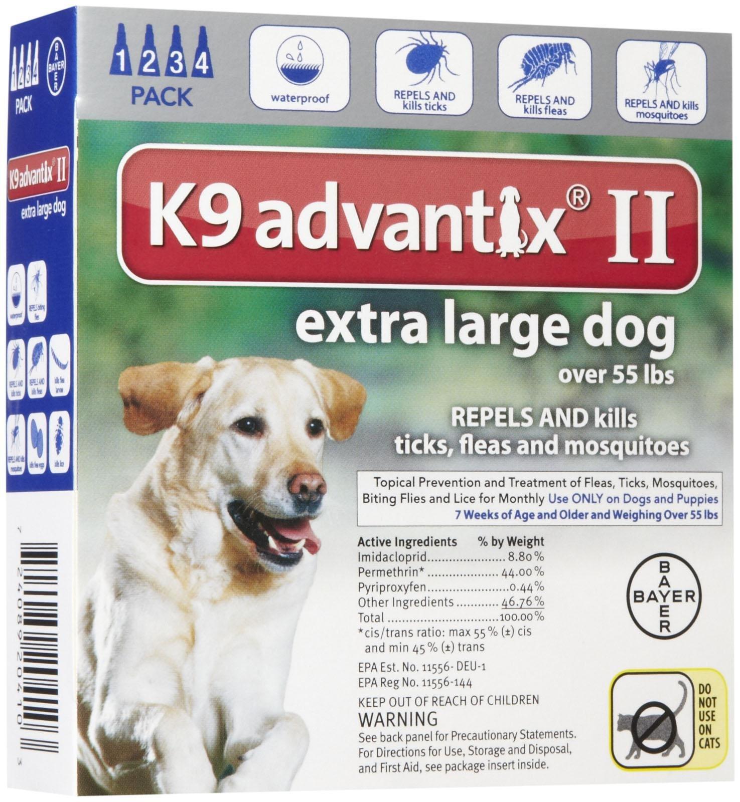 Bayer Animal Health K9 Advantix II Extra Large Dog 4-Pack