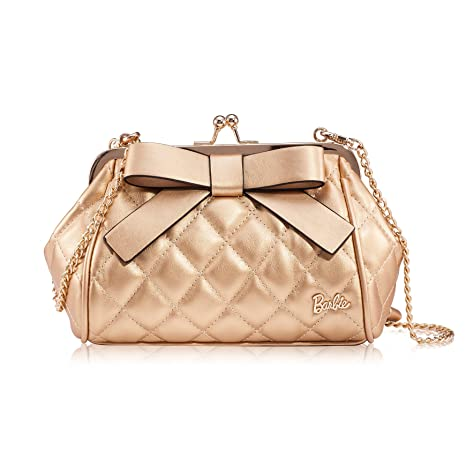 c6a5c0e11d Barbie Sweet Series Chain Bowknot Leather Clutches Cross Body Shoulder Bag  for Womens Girls BBFB141 (Gold): Amazon.ca: Luggage & Bags