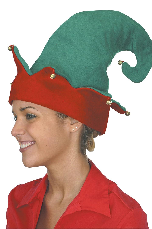 53ef9f07bdf2b Amazon.com  Jacobson Hat Company Adult Elf Hat  Clothing