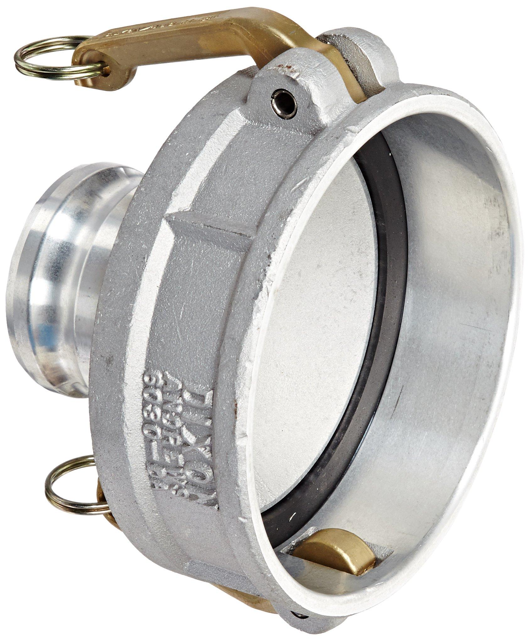 Dixon 6030-DA-AL Aluminum Cam and Groove Reducing Hose Fitting, 6'' Socket x 3'' Plug