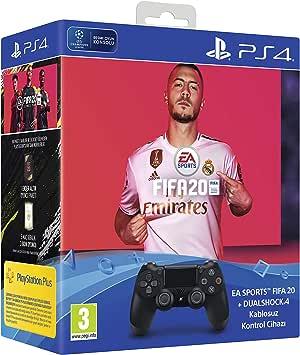 DualShock 4 Black v2 + FIFA20 (Sony Eurasia Garantili)