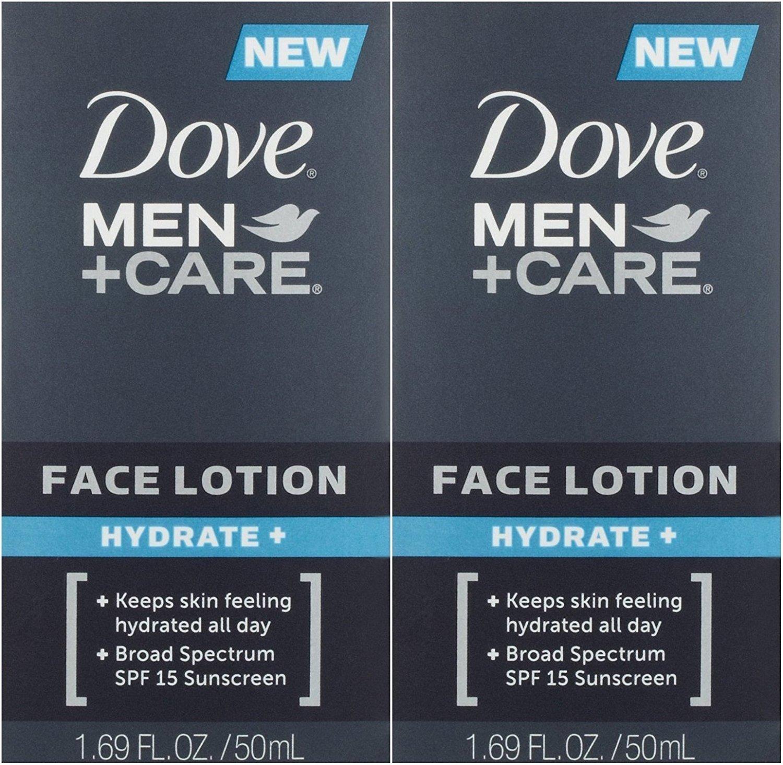 Dove Men+Care Face Lotion Hydrate Plus 1.69 oz 2 pack