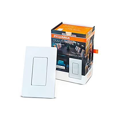 SYLVANIA SMART 78060 Bluetooth in-Wall Switch, Works with Apple Homekit and Siri Voice