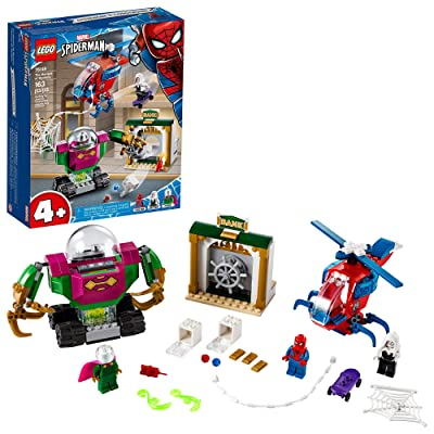 LEGO Marvel Spider-Man The Menace of Mysterio 76149 Cool Superhero Action Playset with Ghost Spider Minifigure, New 2020 (163 Pieces): Toys & Games