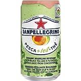 San Pellegrino Organic Sparkling Beverage, Peach + Tea Cans, 250ml, 24 Cans Total