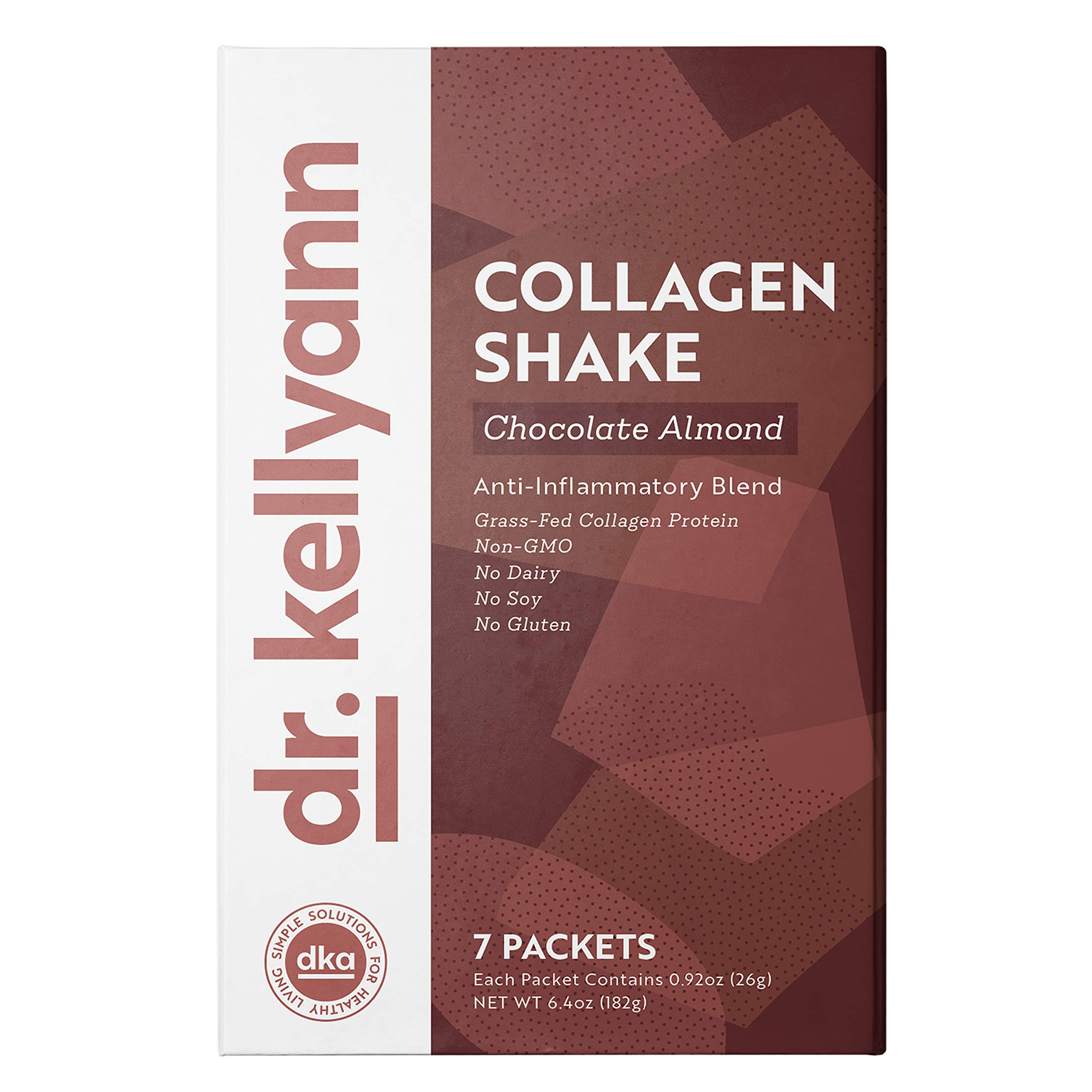 Keto Chocolate Almond Shakes - 100% Grass Fed Collagen Protein by Bone Broth Expert Dr. Kellyann - Gluten Free, Dairy Free, Soy Free, Non-GMO - Perfect for Keto, Paleo & Weight loss Diets (7 servings) by Dr. Kellyann