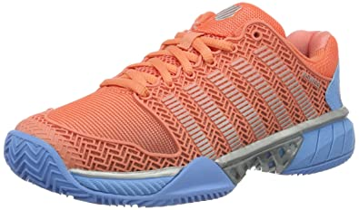 K-Swiss Performance Hypercourt Express HB, Shoes Femme - Orange (Fusion Coral/Bonnie Blue 664), 37 EU