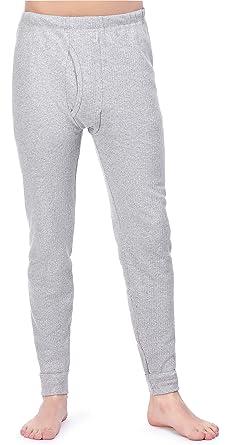 a5d3a2cb76c48 Timone Caleçon Long Pantalon sous-vêtements Thermiques Homme TISZ001 (Gris,  M)