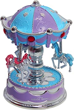 Sidiou Group Caja de música modelo de carrusel creativo con luz ...