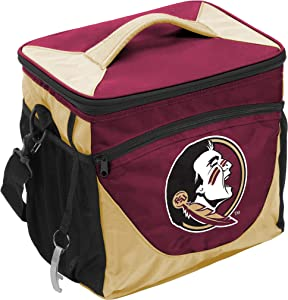 Logo Brands NCAA Unisex Adult 24-Can Cooler with Bottle Opener and Front Dry Storage Pocket, One Size, Multicolor