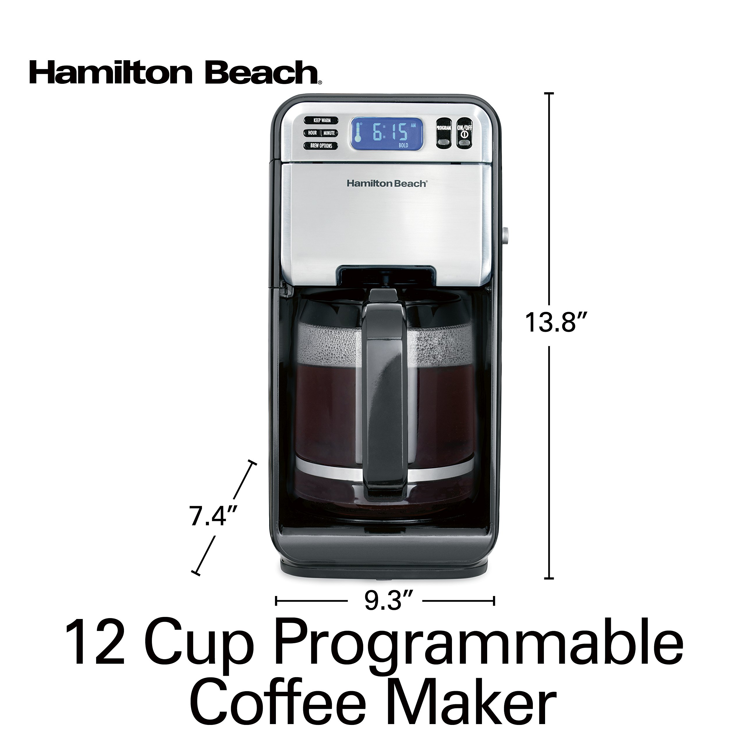 Hamilton Beach (46205) Coffee Maker, Programmable with 12 Cup Capacity, Stainless Steel by Hamilton Beach (Image #8)