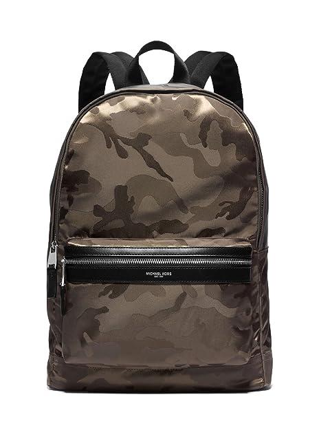 de8ca88aff7a MICHAEL KORS MENS Kent Camouflage Nylon Jacquard Backpack (Army ...
