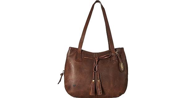 a33ad22a2c Born Womens Santa Clara Distressed Leather Chocolate One Size