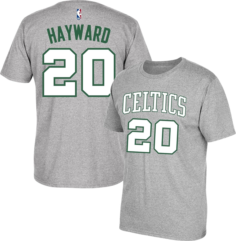 Amazon.com   adidas Boston Celtics Gordon Hayward Green Name and ... 9883303c7