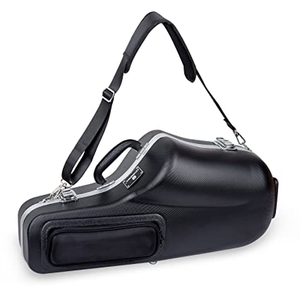 c0d813dd98 Crossrock CRA860ASBK Alto Saxophone Case- Contoured ABS Molded with single shoulder  strap in Black  Amazon.in  Musical Instruments