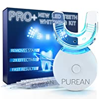 Teeth Whitening Kit with LED Light – 2 Syringes of 5ml Professional 35% Carbamide Peroxide Tooth Whitener Gel – Bright White Smile Set with Mouth Tray