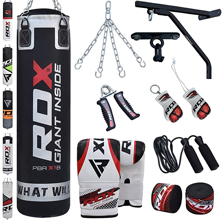 RDX Punching Bag Filled Wall Bracket Boxing Training MMA Heavy Punch