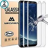 Samsung Galaxy S8 Vetro Temperato , MKOAWA [2 pezzi] 0.25mm Protezione Dello Schermo Protettore Glass Screen Protector Film Trasparenza ad alta definizione, Anti-riflesso, Anti-Bolla, Durezza 9H Per Samsung Galaxy S8