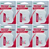 Colgate Waxed Dental Floss For Improved Mouth Health - Pack of 6 (25Mtr Per Pack)