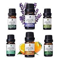Pursonic 100% Pure Essential Aromatherapy Oils Gift Set-6 Pack , 10ML(Eucalyptus...