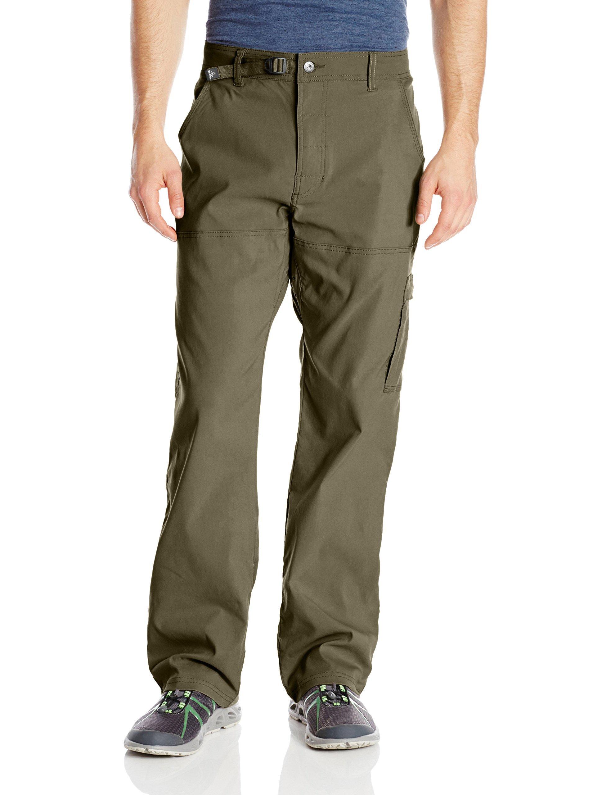 prAna Men's Stretch Zion Inseam, Cargo Green, 32W 32L