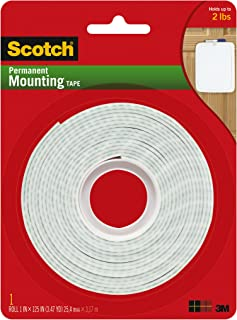 product image for Scotch Brand 112L Permanent Mounting Tape, 1 in x 125 in, White